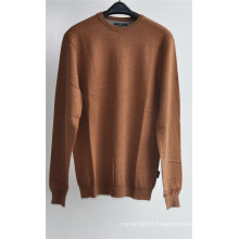 Men Pure Color Round Neck Knit Pullover Sweater